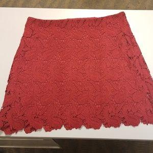 Express Deep red lined skirt. Sz 4